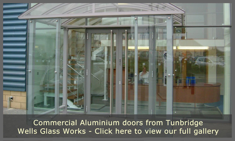 Transparent Aluminium Aluminium Doors Tunbridge Wells Glass Works Commercial Doors